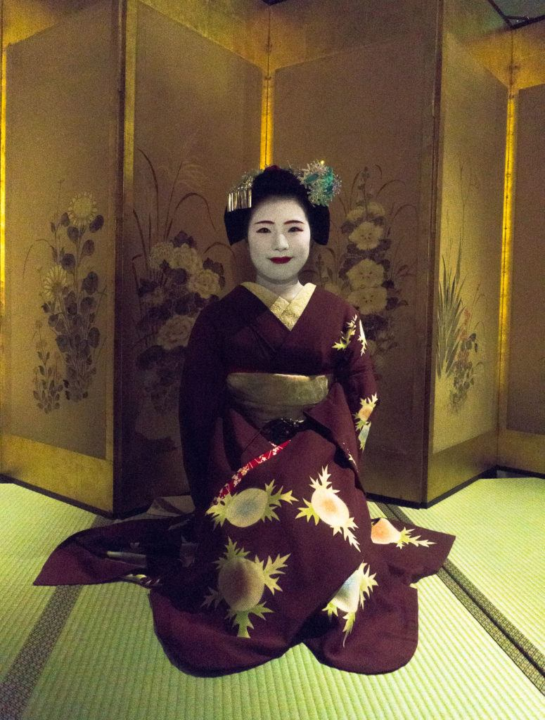 Maiko show in Kyoto