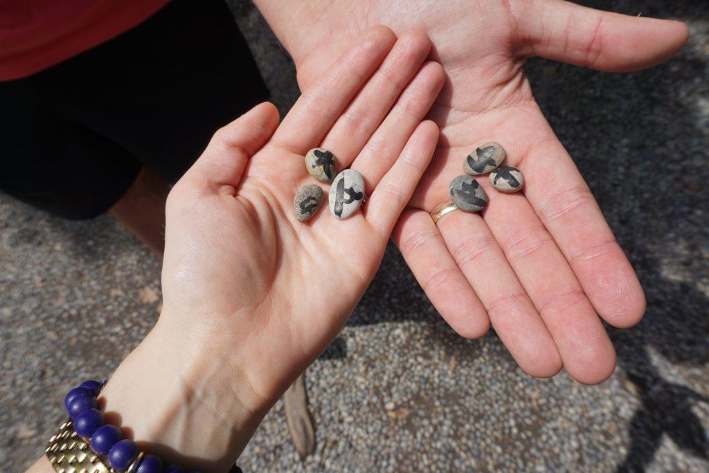 Sumiyoshi taisha stones to make a wish