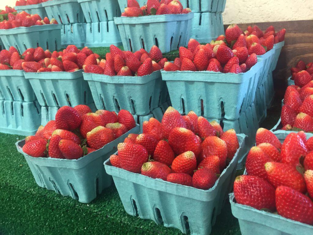 Fresh strawberries at Detwiler Market