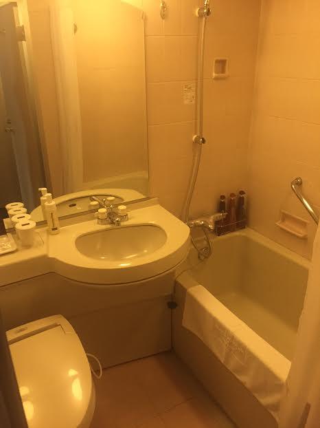 Bathroom of the Mitsui Garden Hotel Hiroshima - Hiroshima day trip
