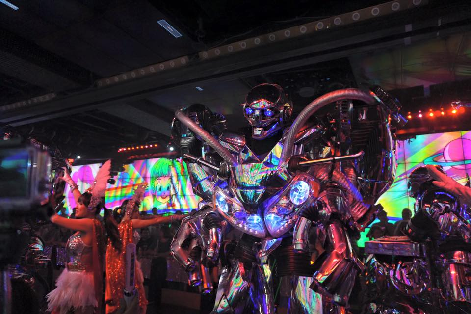Colorful robot costume at the Robot Restaurant in Tokyo