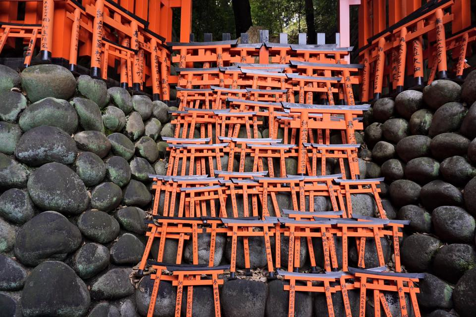 Small token torii gates at Fushimi Inari Shrine
