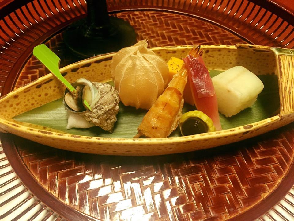 Sashimi starter from our kaiseki meal.