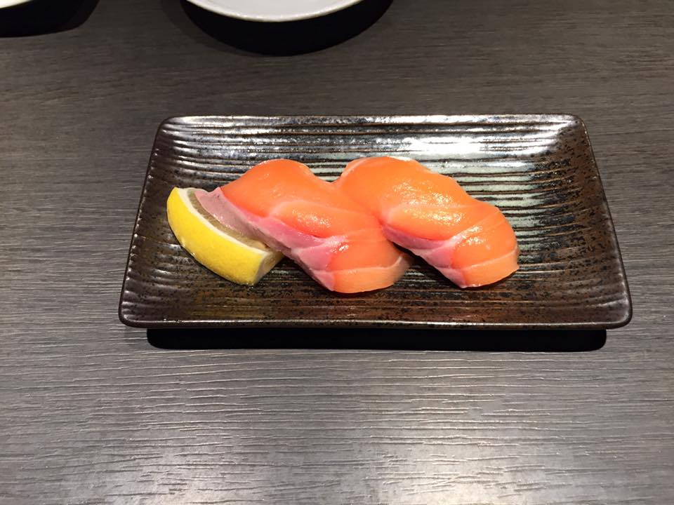 Salmon sashimi from Chijiro in Kyoto