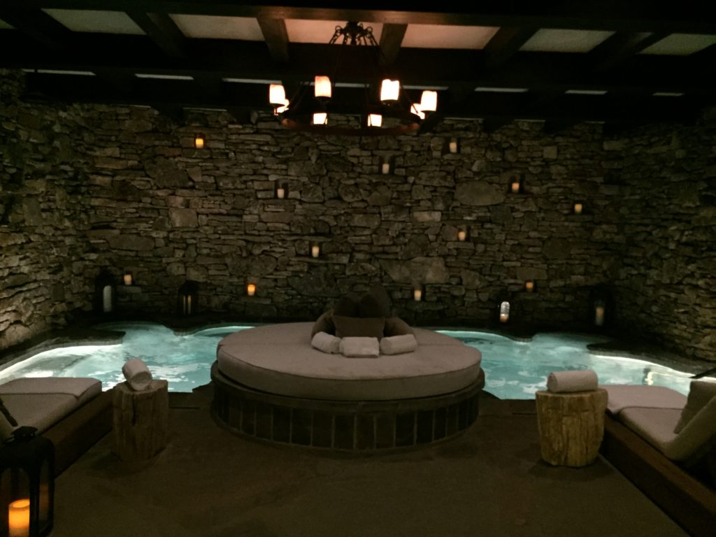 Tranquil co-gender grotto pool at Cedar Creek Spa, Big Cedar Lodge