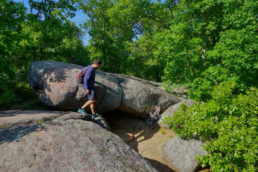 Elephant Rocks State Park in Belleview, Missouri.