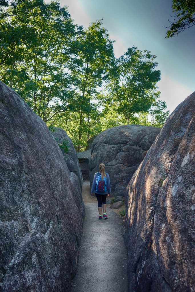 Boulders at Elephant Rocks State Park in Missouri