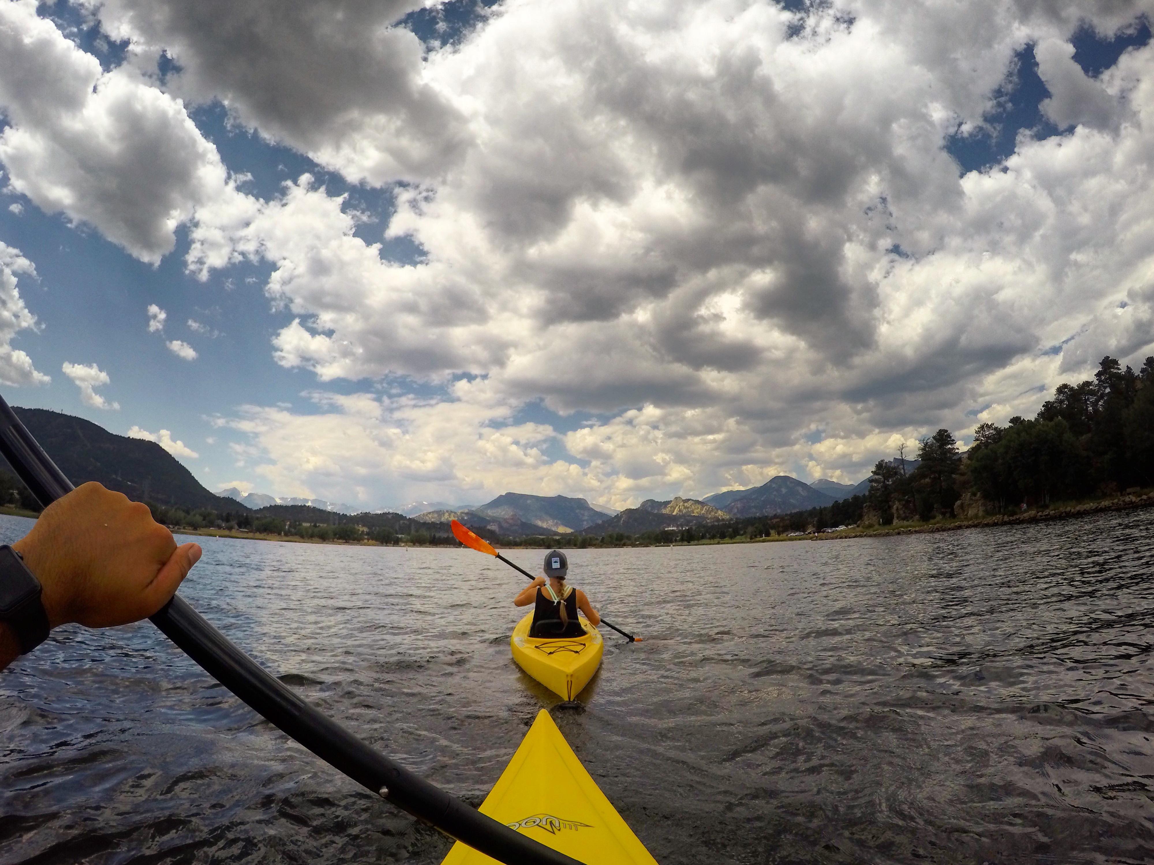 Kayaking on Lake Estes in Estes Park, Colorado