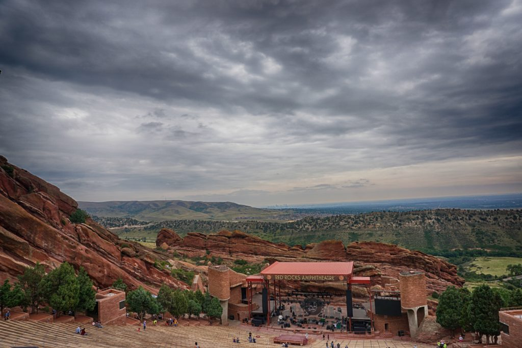 Red Rocks Amphitheatre in Denver, Colorado.