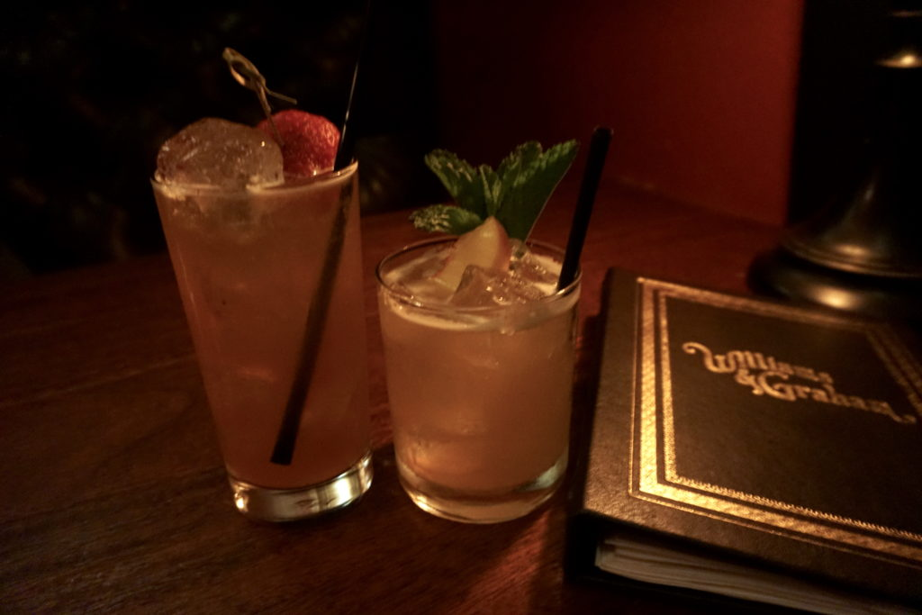 Two cocktails at Williams & Graham Speakeasy - unique things to do in Denver