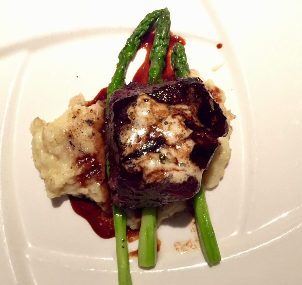 Filet with potatoes and asparagus at Polo Grill in Tulsa