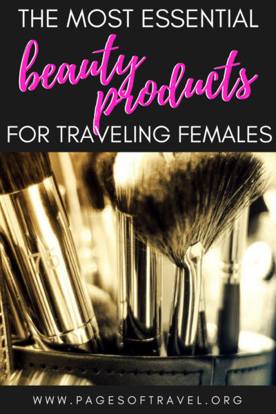 Making sure your makeup and hair style lasts all day can be a huge pain when traveling. Here are some of the best beauty products for female travelers! #beauty #beautyproducts #femaletravel