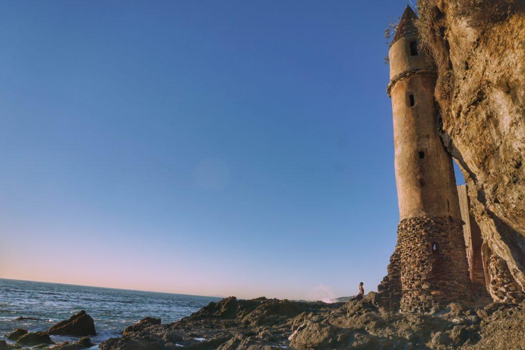 Pirate tower at Victoria Beach in Laguna Beach, California