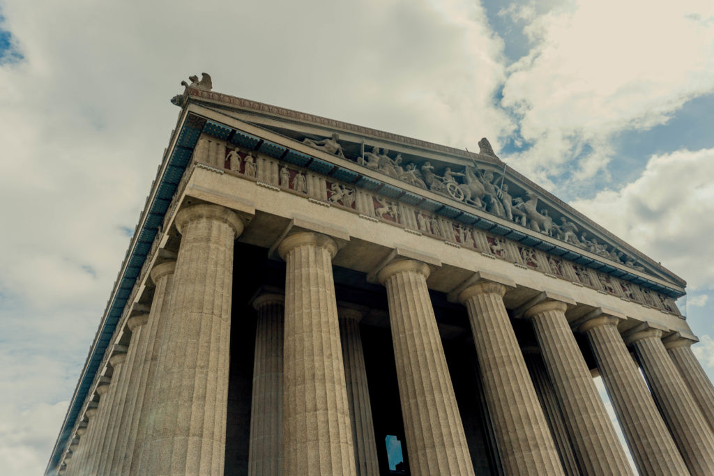 Outside view of The Parthenon - downtown Nashville attractions