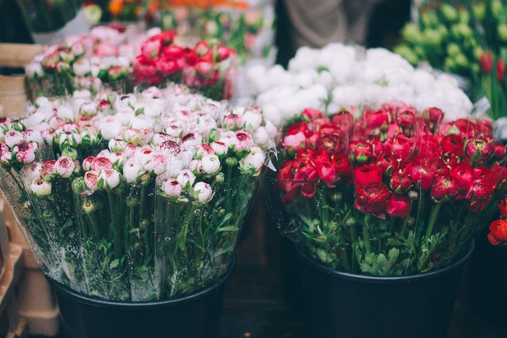 Flowers at the Nashville Farmer's Market - downtown Nashville attractions