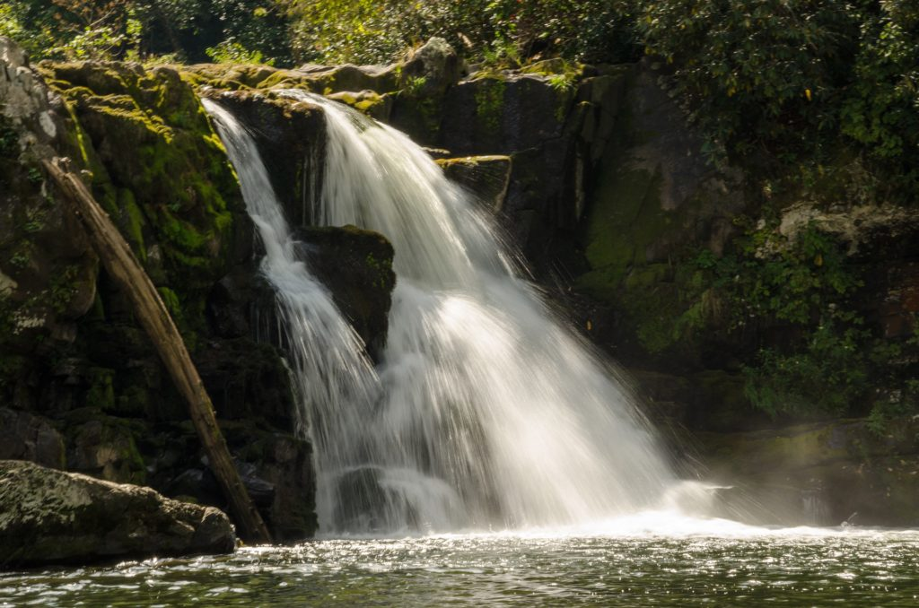 A waterfall - Fun things to do in Gatlinburg and Great Smoky Mountains National Park
