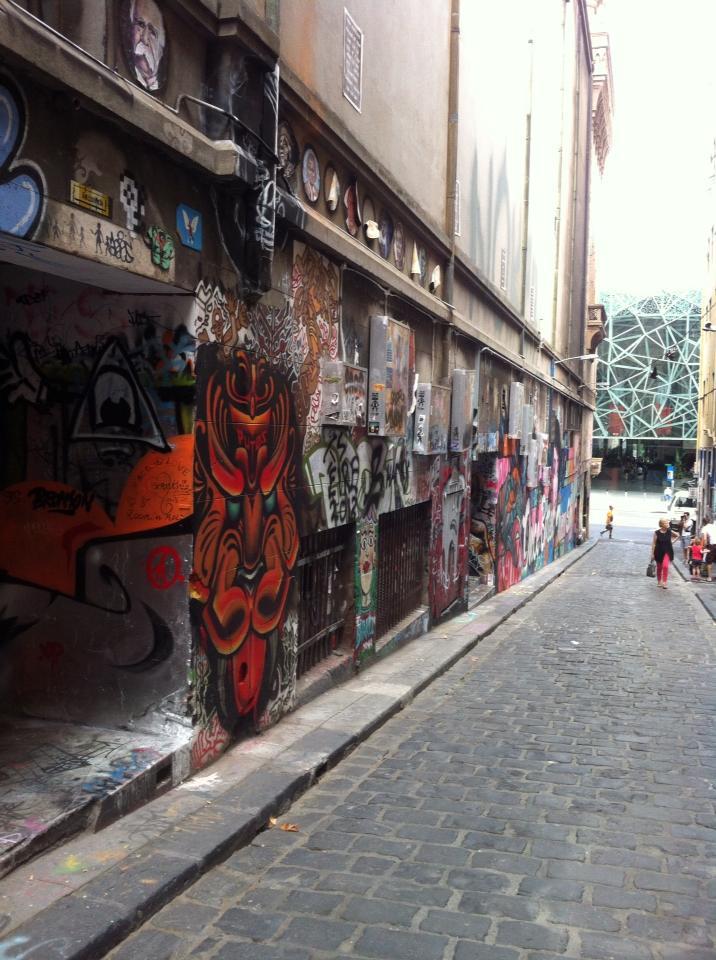 Hosier Lane street art murals in Melbourne