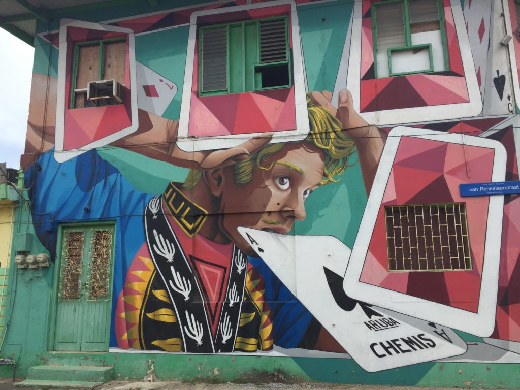 House of Cards mural in Aruba