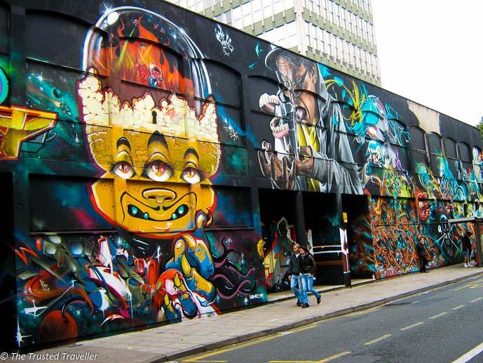 See no evil - coolest street art mural in Bristol, UK