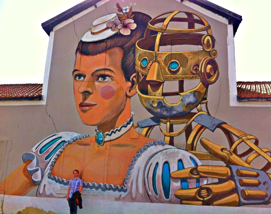 Princess Leia & R2-D2 Mural in Lisbon, Portugal