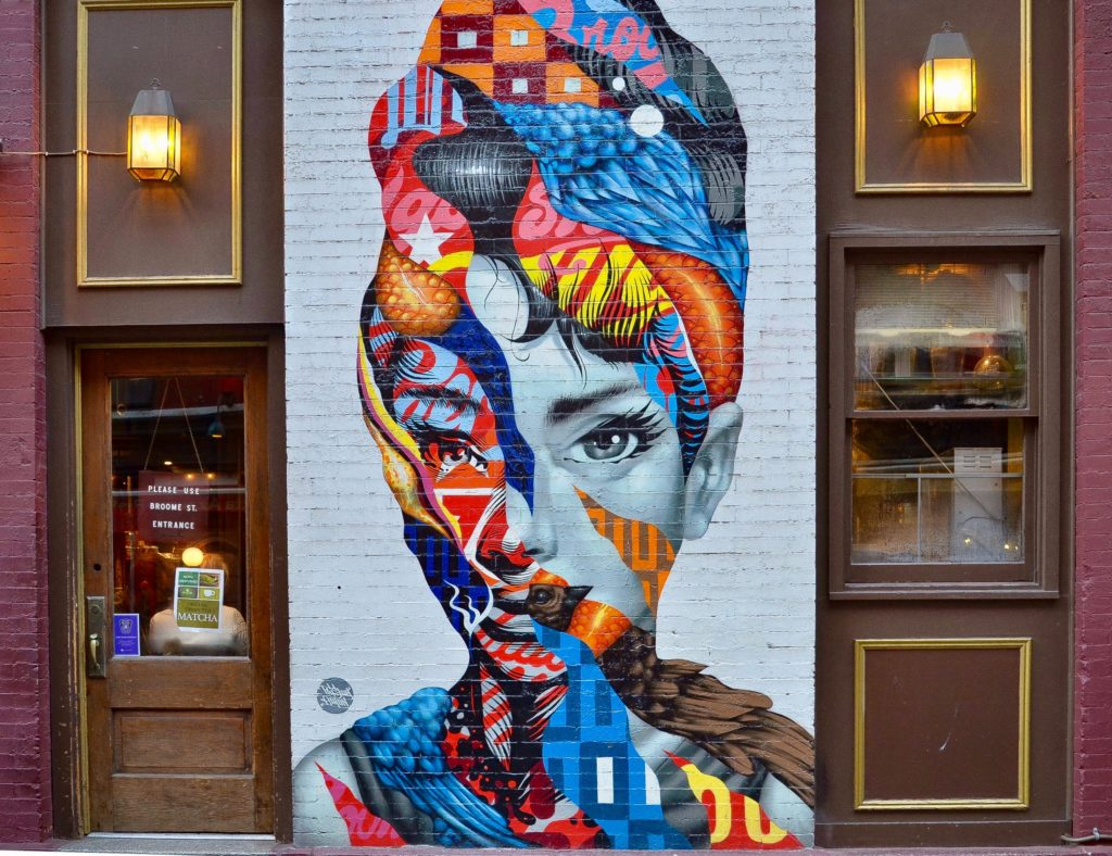 Audrey on Mulberry coolest street art in New York City