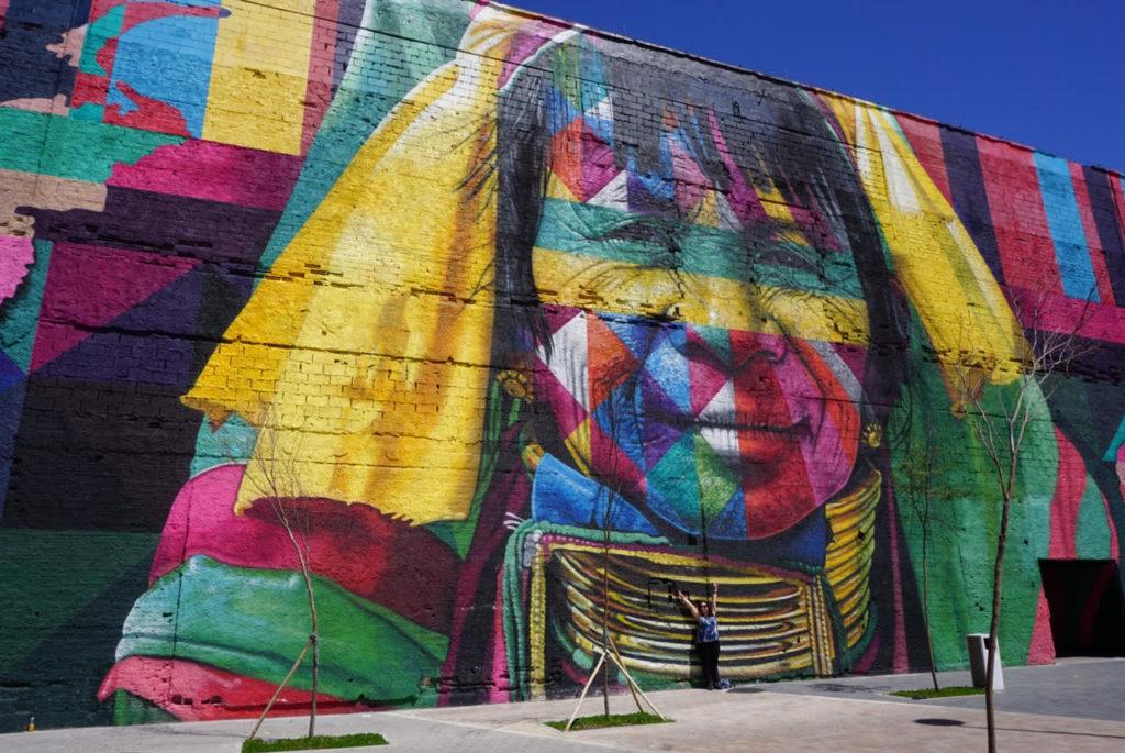 Etnias mural in Rio de Janeiro, Brazil