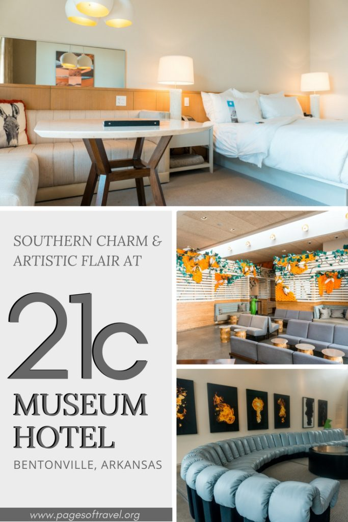 The 21c Museum Hotel Bentonville will compel you with its Southern charm, contemporary art, flavorful dishes, and artistically posh pet-friendly rooms.