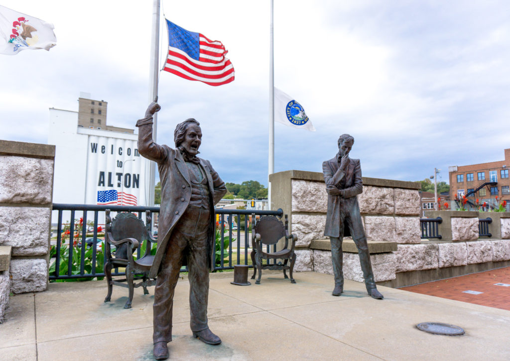 Lincoln Douglas Square in Alton, Illinois
