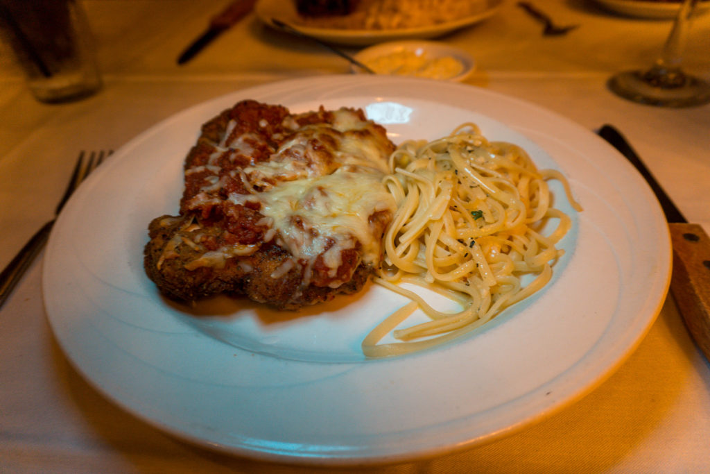 Spaghetti parmesan at Tony's Restaurant in Alton