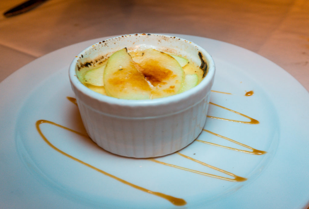 Creme brulee at Tony's Restaurant in Alton