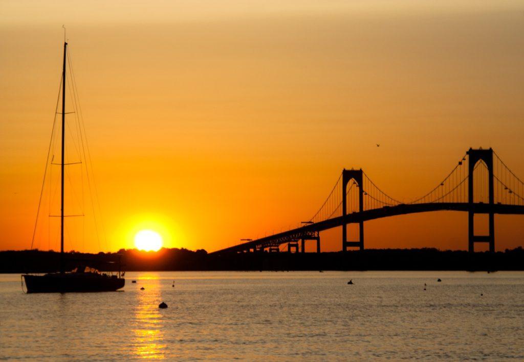 Sunset in Newport