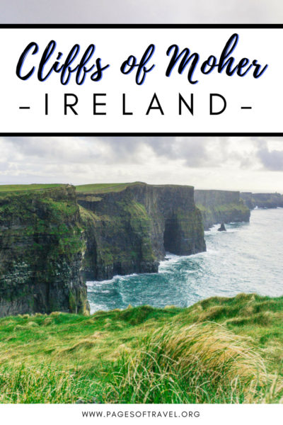 Visiting the Cliffs of Moher is one of the top things to do while in Ireland. This guide will help you prepare for visiting and hiking the Cliffs of Moher with ease! #Ireland #CliffsofMoher #RoadTrip #BucketList