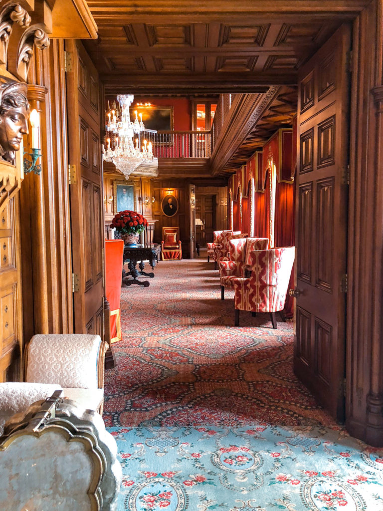 The entryway of Ashford Castle