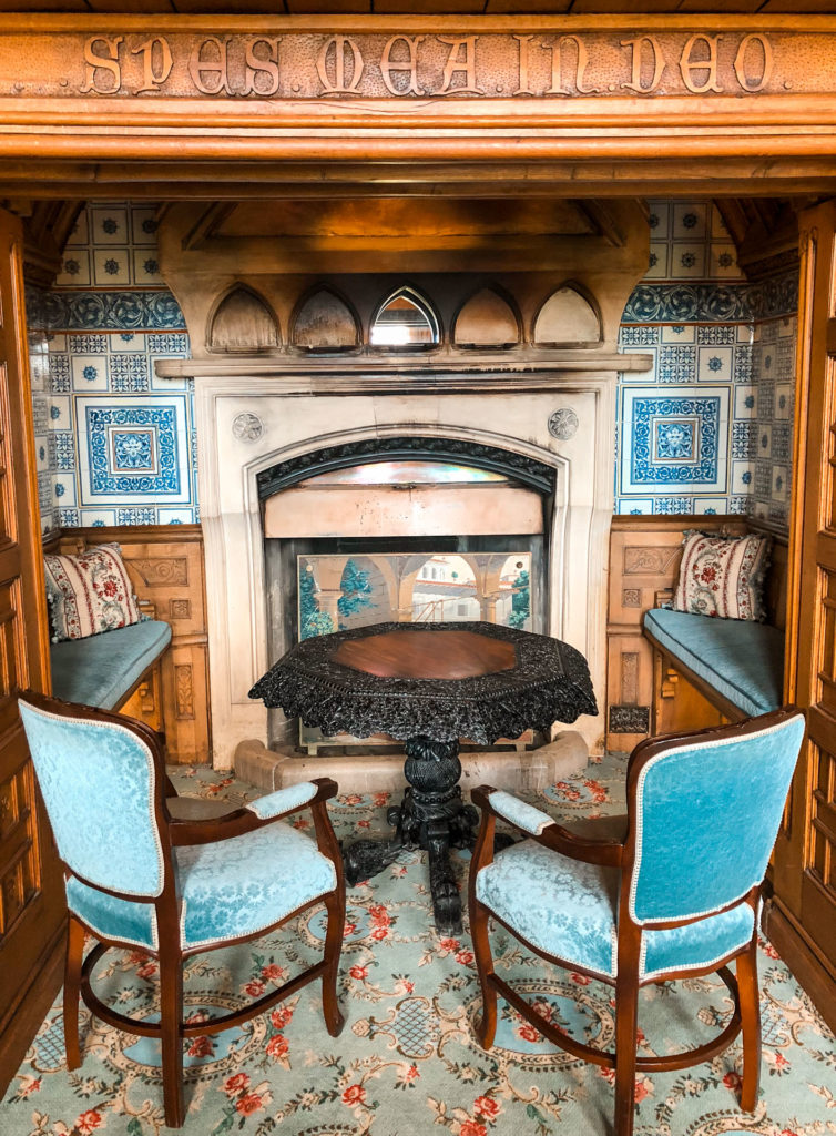 A sitting area at Ashford Castle