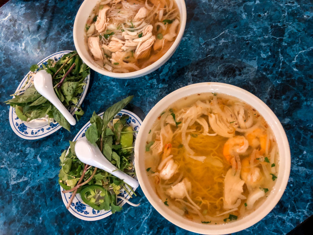 Bowls of Pho from Vietnam Cafe in Kansas City, Kansas