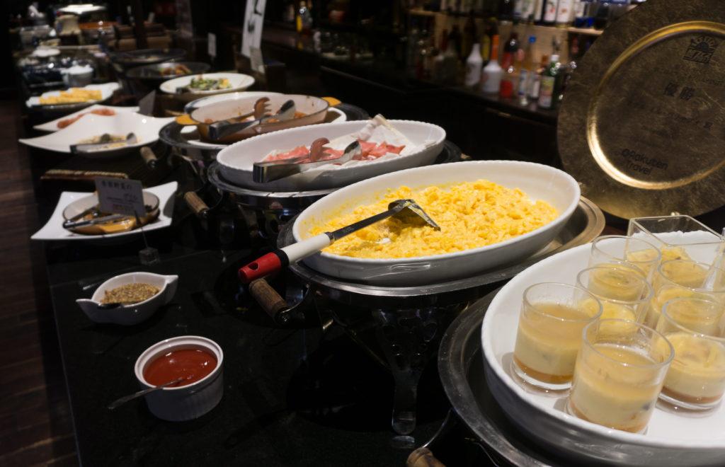 Japanese buffet breakfast at Hotel Il Palazzo - Fukuoka