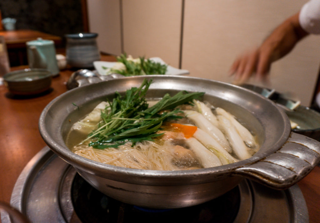 Chicken hot pot from Hanamidori - Fukuoka