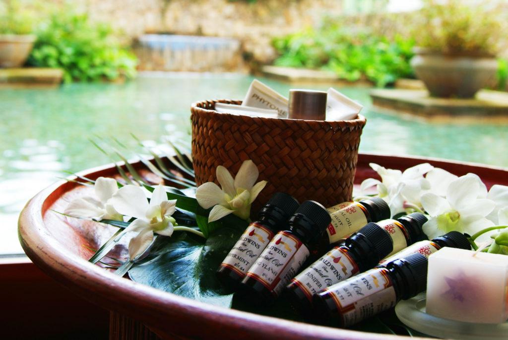 Essential Oils at the spa at Nishimuraya Hotel Shogetsutei - Kinosaki Onsen ryokan