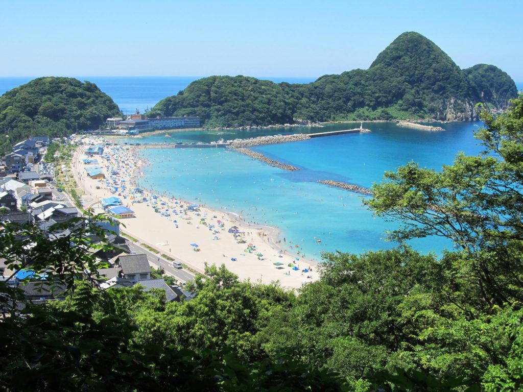 Takeno Beach aerial view in Kinosaki Onsen, Japan - Kinosaki Onsen ryokan