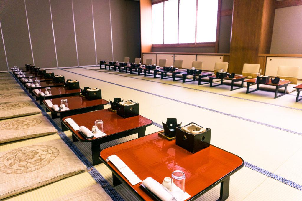 Dining Hall of Nishimuraya Hotel Shogetsutei - Kinosaki Onsen ryokan in Japan