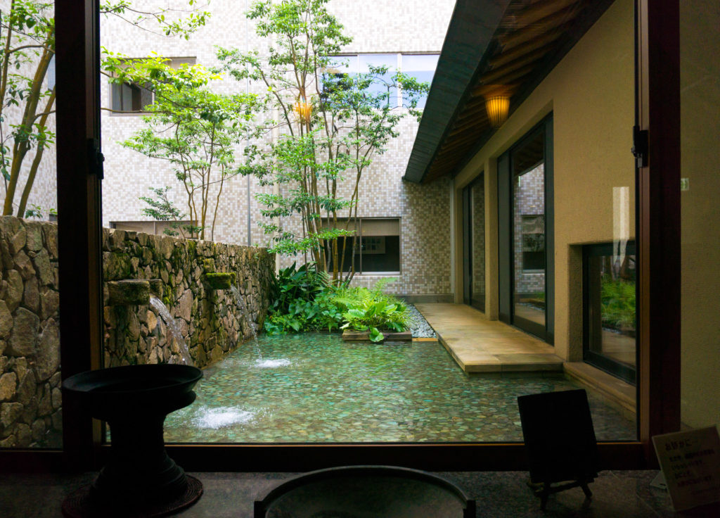 Entrance to a private onsen.