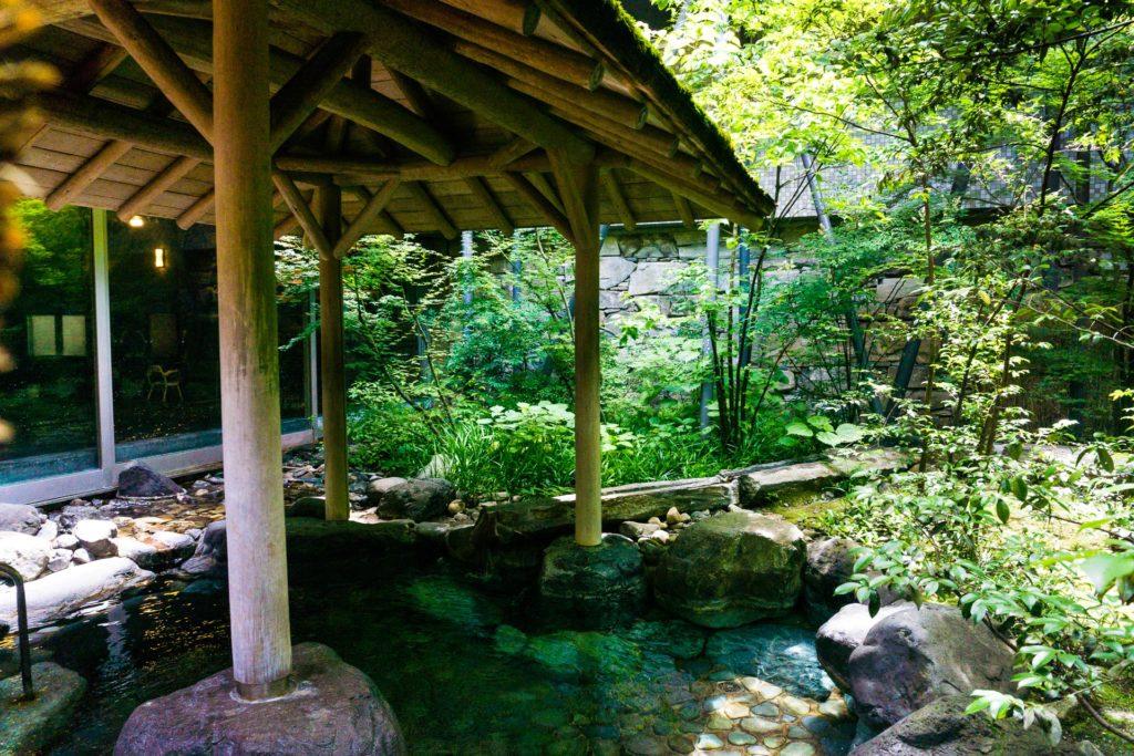 Public Outdoor Hot Spring Onsen at Nishimuraya Hotel Shogetsutei - Kinosaki Onsen ryokan