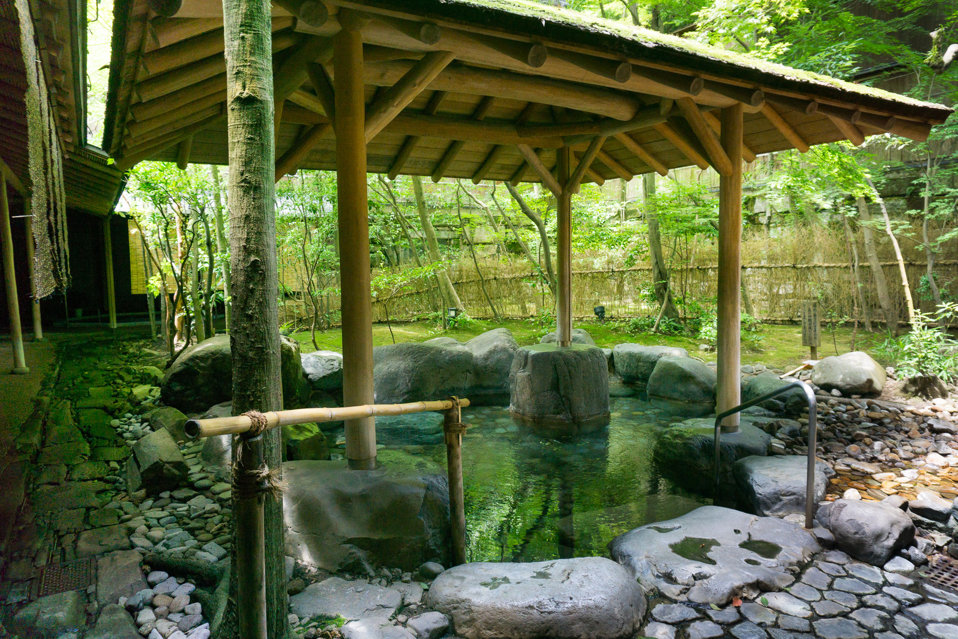 Outdoor Public Onsen Hot Spring - Nishimuraya Hotel Shogetsutei Kinosaki Onsen Ryokan- Kinosaki Onsen, Japan