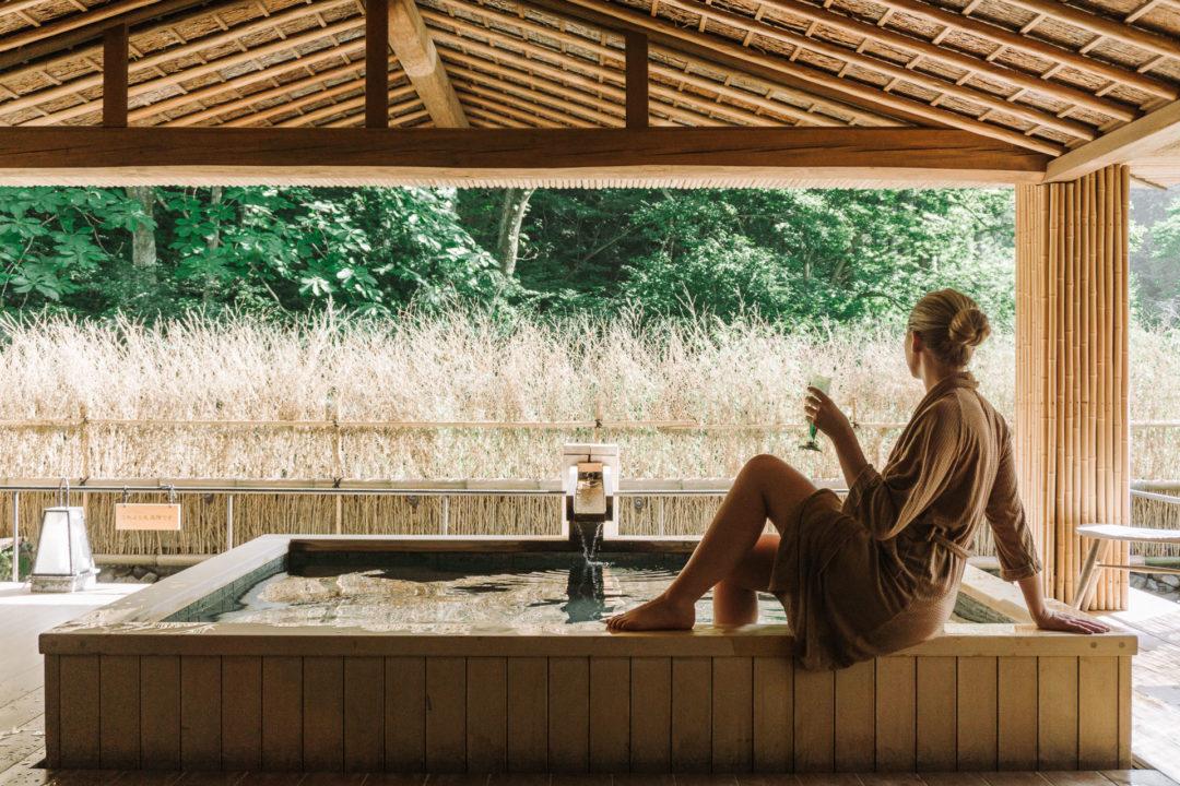 The Japanese-style private onsen at Nishimuraya Hotel Shogetsutei - Kinosaki Onsen ryokan - Kinosaki Onsen, Japan