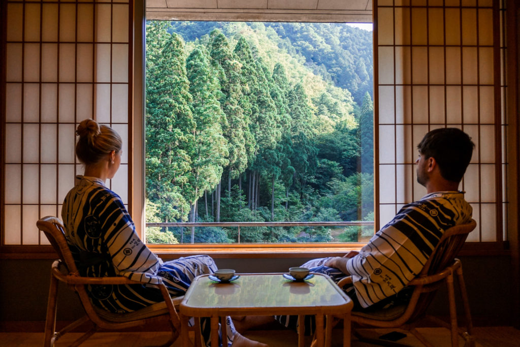 View from the Japanese style Superior room at Nishimuraya Hotel Shogetsutei - Kinosaki Onsen ryokan