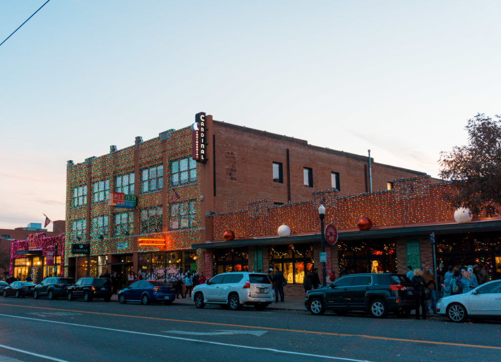 Street view of stores at Automobile Alley in Oklahoma City
