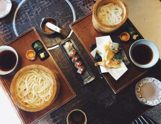 Udon noodle sets in Osaka Japan