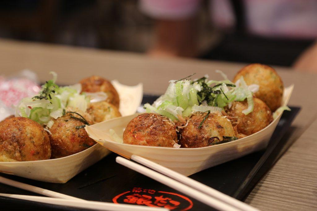 takoyaki balls from Osaka, Japan