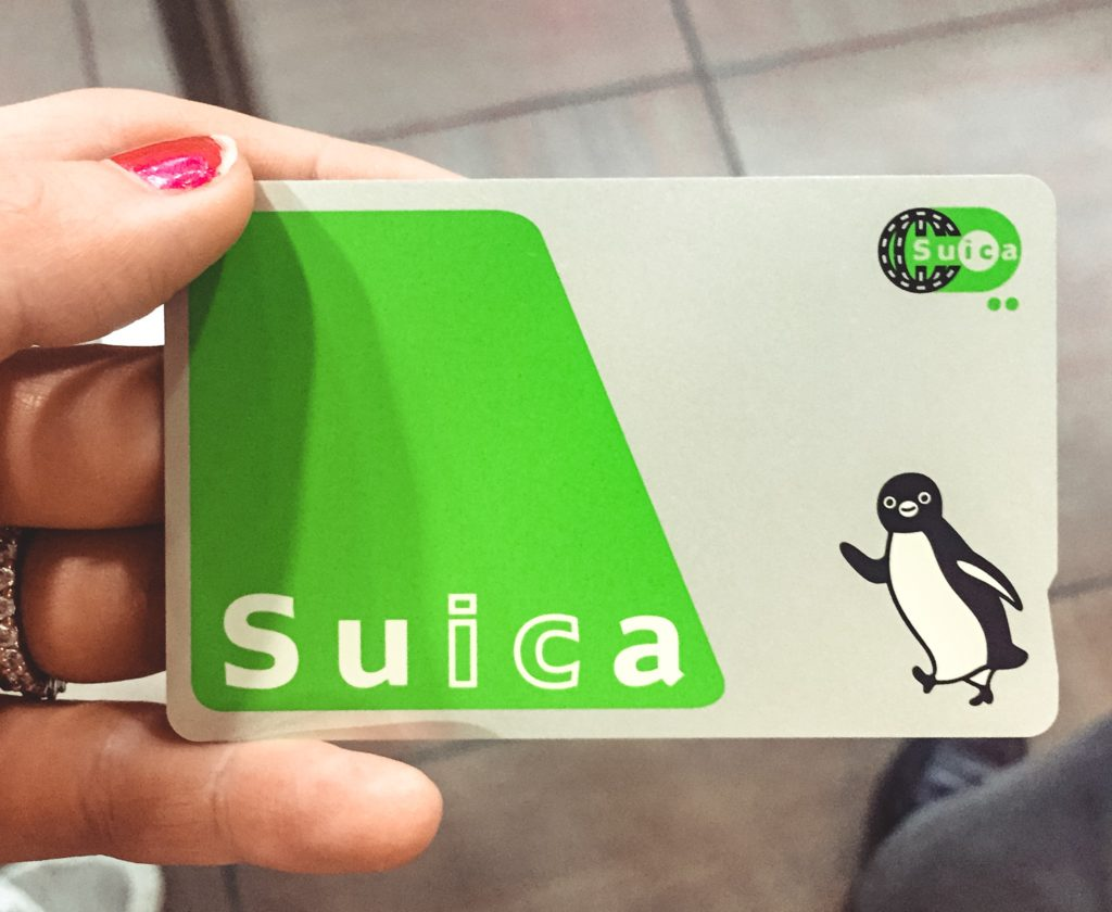 Suice IC card for Japan (penguin logo on the side)