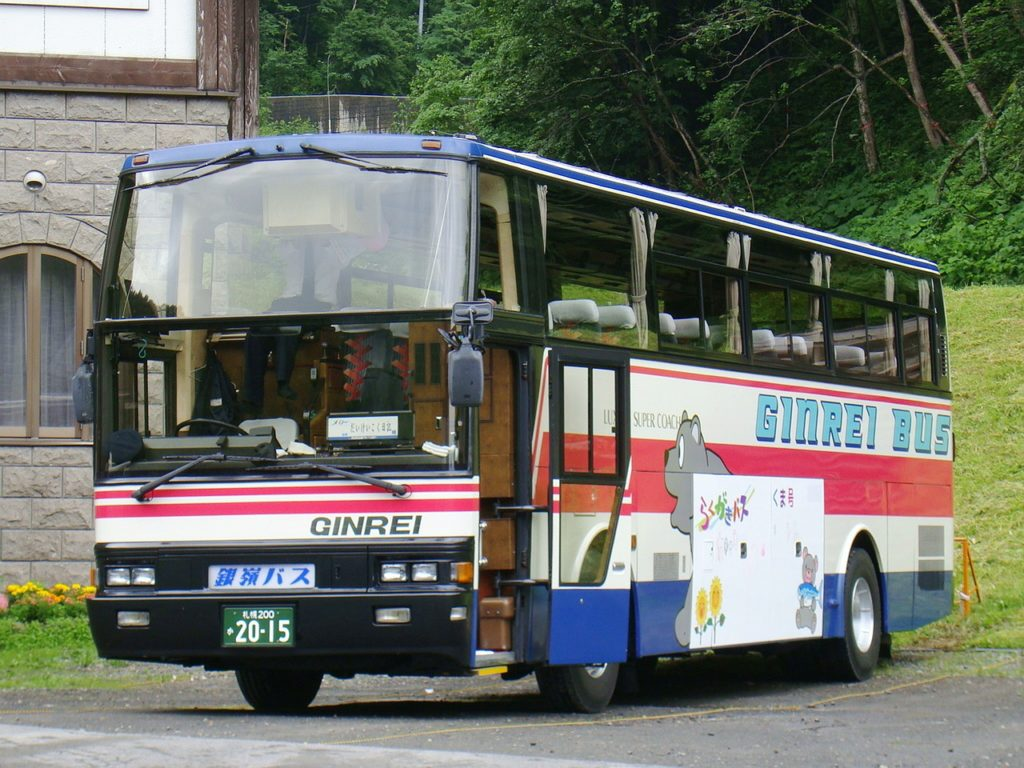 Large coach bus in Japan